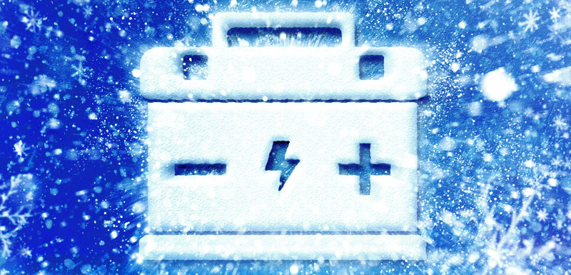 Frozen Car Battery Icon